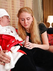 Galia loves to be fucked by older men, especially when they dress up as Santa!