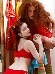 Two young redheads